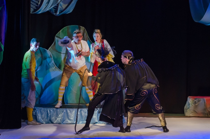81528696 - dnipro, ukraine - june 17, 2017: rikki tikki tavi performed by members of the dnipro youth theatre small stage.